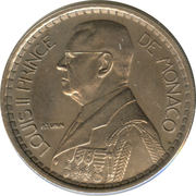 20 francs Louis II – avers