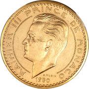 20 francs Rainier III (Essai) – avers