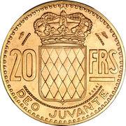 20 francs Rainier III (Essai) – revers