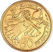 50 francs Ranier III (Essai) – revers