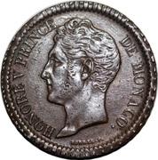 1 décime Honoré V (tête large, bronze) – avers