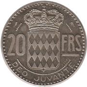 20 francs Rainier III (essai, piéfort) – revers