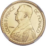 10 francs Louis II (Essai) – avers
