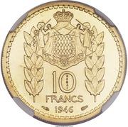 10 francs Louis II (Essai) – revers
