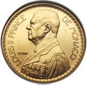 20 francs Louis II (Essai) – avers