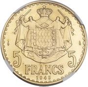 5 francs Louis II (Essai) – revers