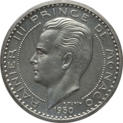 50 francs Rainier III (Piéfort Essai) – avers
