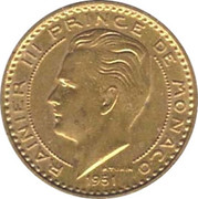 20 francs Rainier III -  avers