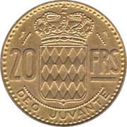 20 francs Rainier III -  revers