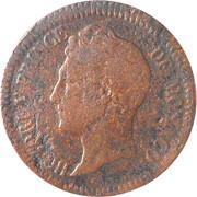 1 décime Honoré V (petite tête, cuivre) – avers