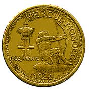 50 centimes Louis II – avers