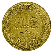 50 centimes Louis II – revers