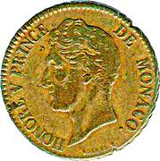 5 centimes Honoré V (Petite tête) – avers
