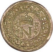 5 francs (Contremarquée sur 10 francs) – avers