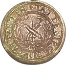 5 Francs (countermarked on 10 Francs) – revers