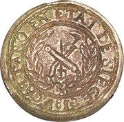 5 francs (Contremarquée sur 10 francs) – revers