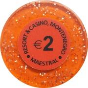 2 Euro - Casino Hit Maestral (Sveti Stefan Budva) – revers