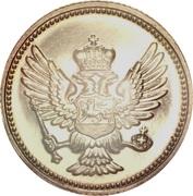 20 Para - Nikola I (Kingdom restrike) – avers