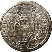 15 kreuzer Johann VIII – revers