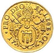 ¼ ducat Anton III – revers