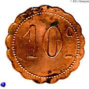 10 Centimes Jeton J.Bresson & Cie - Montpellier [34] – revers