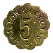 5 Centimes - Jeton Quercy - Montpellier [34] – avers