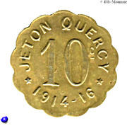 10 Centimes - Jeton Quercy - Montpellier [34] – avers