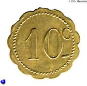 10 Centimes - Jeton Quercy - Montpellier [34] – revers