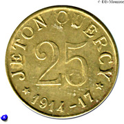 25 Centimes - Jeton Quercy - Montpellier [34] – avers