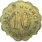 10 centimes Jeton Quercy - Montpellier (34) – avers