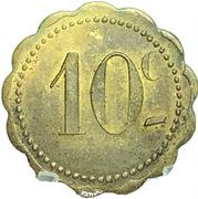 10 centimes Jeton Quercy - Montpellier (34) – revers