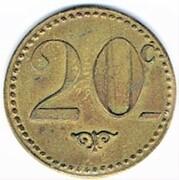 20 centimes - Bar V. Pauc - Montpellier (34) – revers
