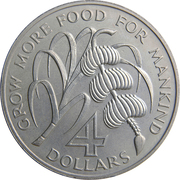 4 dollars FAO – revers
