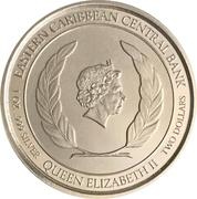 2 dollars (Île émeraude des Caraïbes) – avers