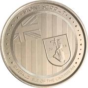 2 dollars (Île émeraude des Caraïbes) – revers