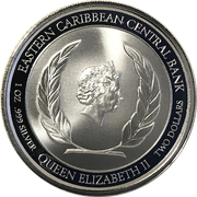 2 Dollars - Elizabeth II (Emerald Isle of the Caribbean) – avers