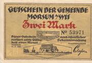 2 Mark (Morsum) – avers