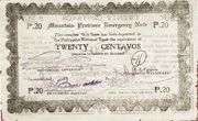 20 Centavos (Mountain Province) – avers