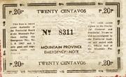 20 Centavos (Mountain Province) – revers