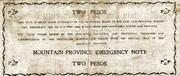 2 Pesos (Mountain Province) – revers