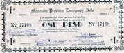 1 Peso (Mountain Province) – avers