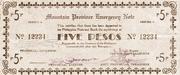 5 Pesos (Mountain Province) – avers
