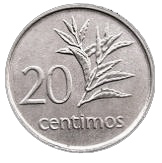 20 centimos – revers