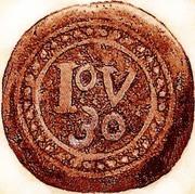30 reis - João V (Colonie portugaise) – revers