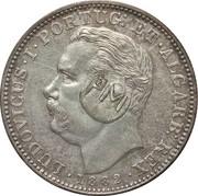 450 Réis (Contremarque sur 1 Rupee (Inde portugaise)) – avers