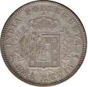 450 Réis (Contremarque sur 1 Rupee (Inde portugaise)) – revers