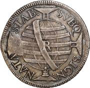 """1000 Réis - José I (Contremarque """"M"""" sur 600 Réis""""J""""/Brésil) – revers"""