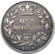 100 Reis - Luis I (Contremarque sur 1 Shilling/Victoria) – revers