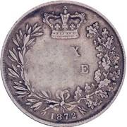 50 Réis - Luiz I (Contremarque sur 6 Pence/Victoria) – revers