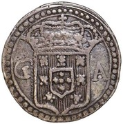 200 reis - João V (Colonie portugaise) – avers